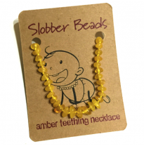 Slobber Beads - baltic amber necklace, butter