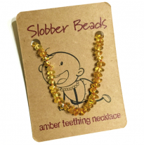 Slobber Beads - baltic amber necklace, lemon