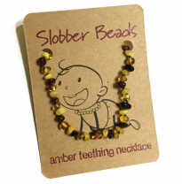 Slobber Beads - baltic amber necklace, multi