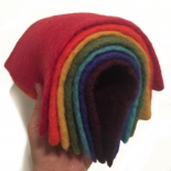 PAPOOSE - craft felt sheets 25cm, rainbow selection