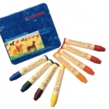 STOCKMAR - stick crayons, tin of 8