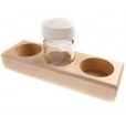 STOCKMAR - 3 paint jars & wooden holder