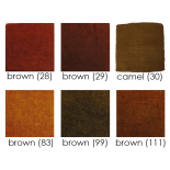 PAPOOSE - craft felt sheets 25cm, browns