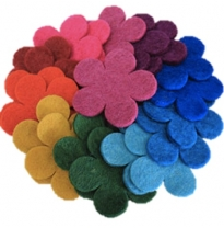 PAPOOSE - craft felt flowers 7cm
