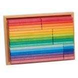 Glückskäfer - rainbow building slats, 32 piece set