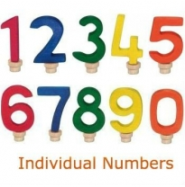 Glückskäfer - wooden birthday numbers, 0-9