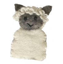 PAPOOSE - felt finger puppet, sheep