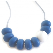 Indi & Frey - necklace, adore vintage blue